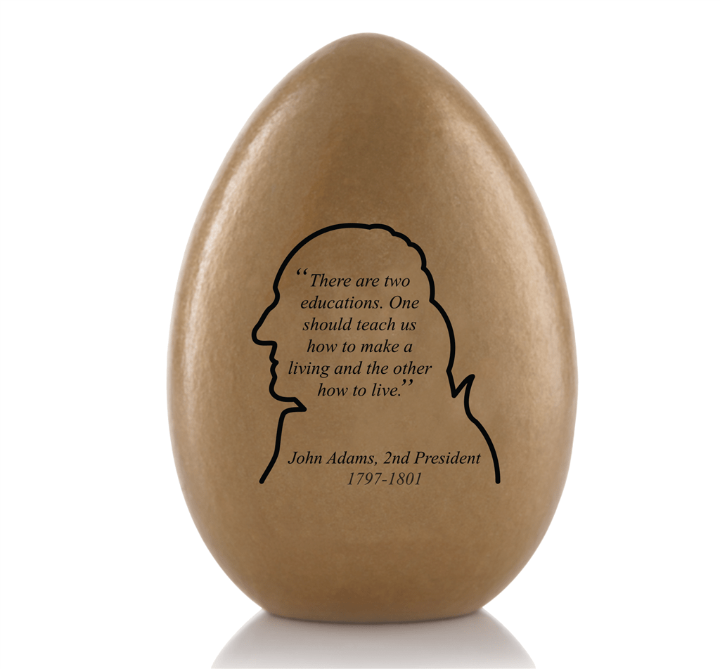 Easter Egg 2019 Wood Historical Gold Presidential Egg Series Single Egg Honors Pres John Adams New Annual Collection From Original Official White House