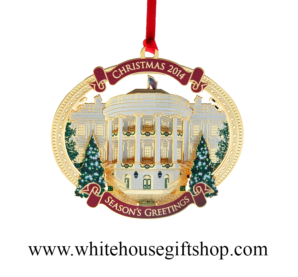 2015 washington d c architecture annual ornament plus the 2014 white house christmas holiday ornament truman s balcony quote on reverse