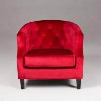 Red Velvet Sofa   Red Accent Chair   Velvet Accent Chair ...
