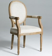 Round Back Dining Chairs Arm Chair | Natural Wood Legs ...