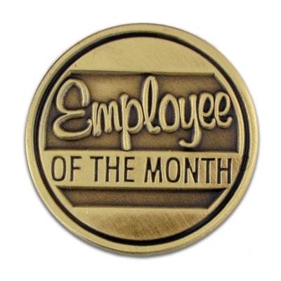 EMPLOYEE OF THE MONTH LAPEL PIN - employee of the month 2