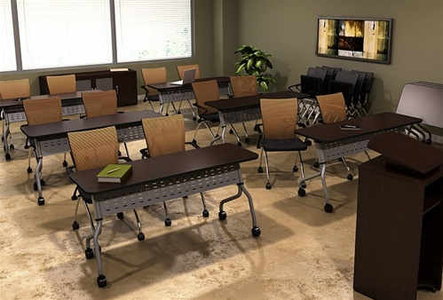 Sync 48quot Modern Training Room Table Sy3048 By Mayline