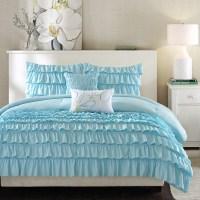 Light Blue Full/Queen 5-Piece Comforter Set w/ 2 Shams & 2 ...