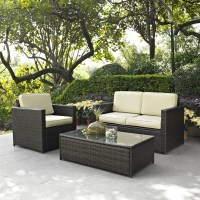 3-Piece Outdoor Patio Furniture Set with Chair Loveseat ...