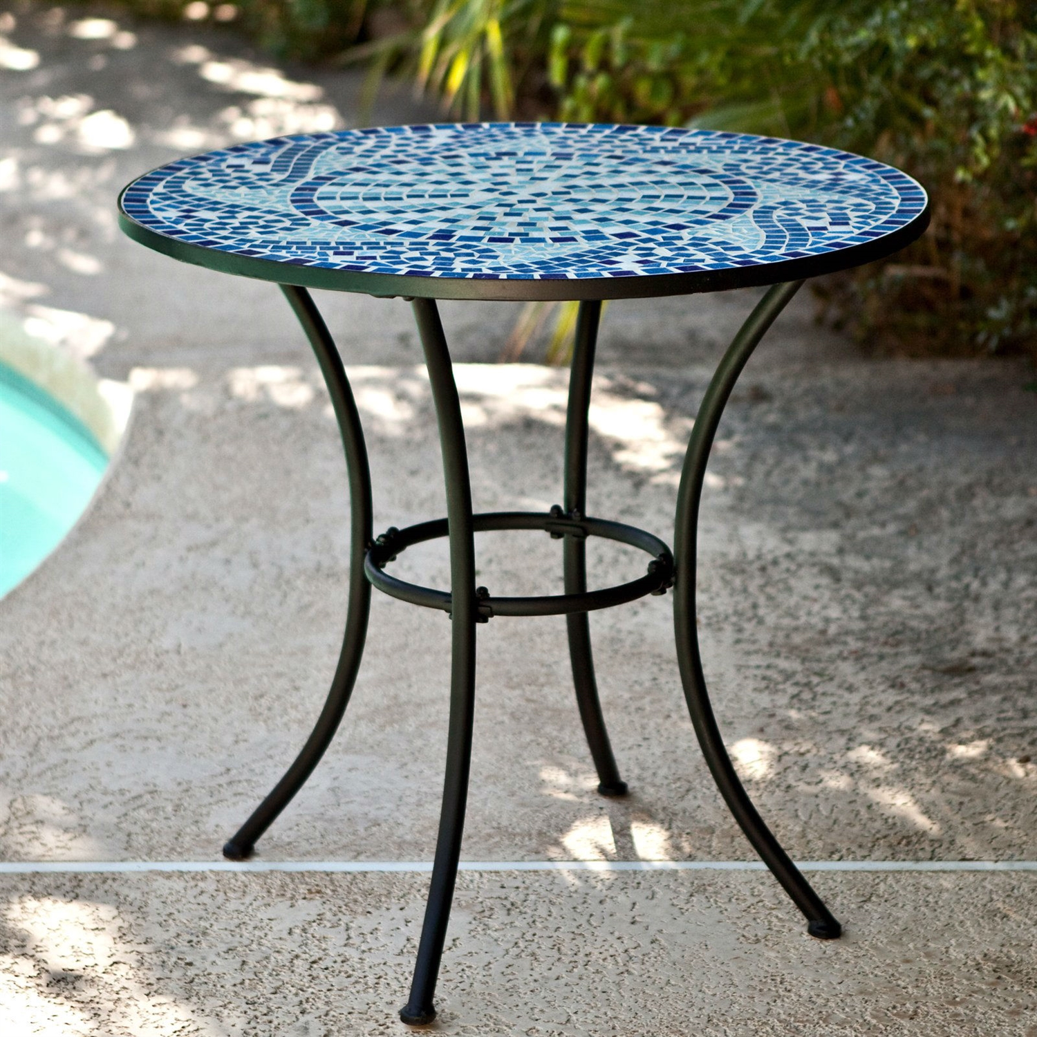 Round Patio Furniture Mosaic Tile Patio Tables Home Interior Blog
