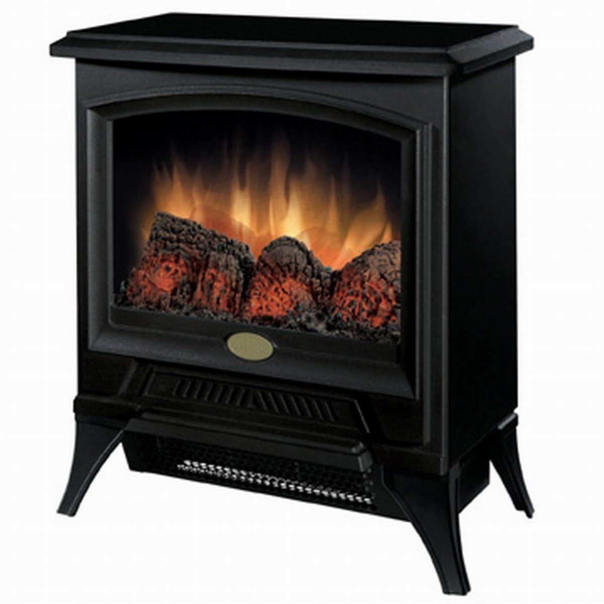 Space Heaters Fireplace Compact Stove Style Electric Fireplace Space Heater In Black
