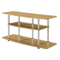 Modern Wood Metal TV Stand Entertainment Center in Light ...