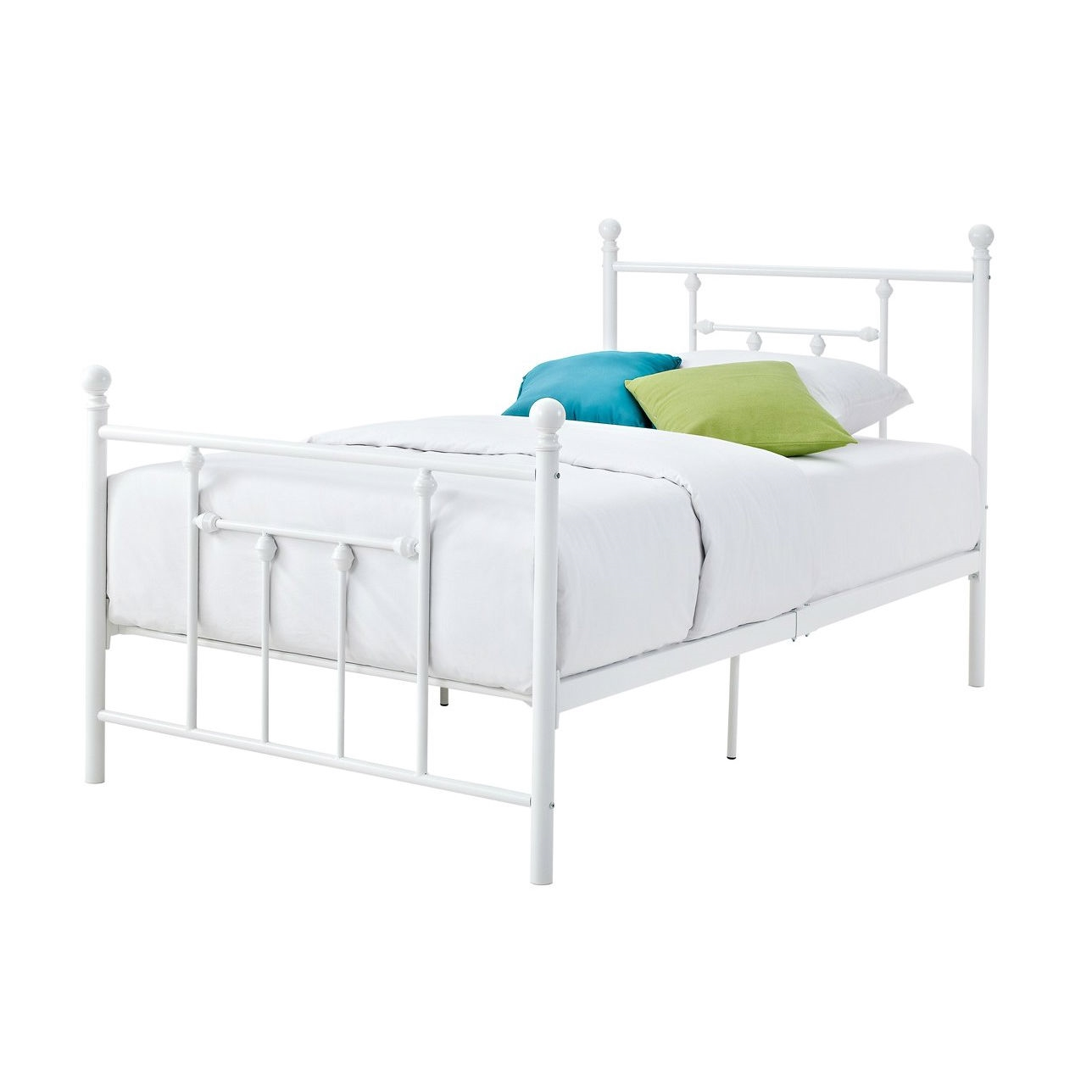 White Platform Bed Without Headboard Full Size White Metal Platform Bed With Headboard And Footboard