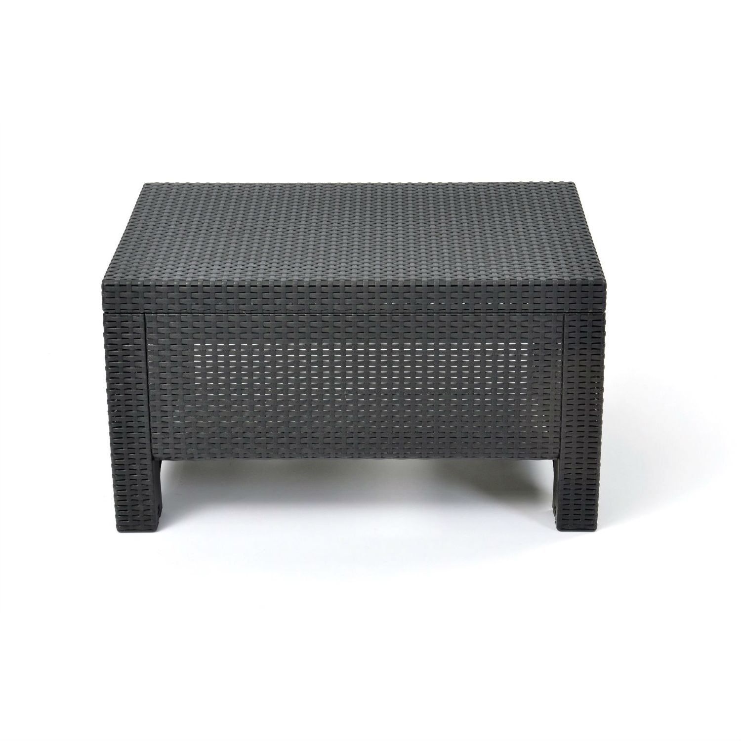 Rattan Table Contemporary Outdoor Coffee Table In Durable Black Plastic Rattan