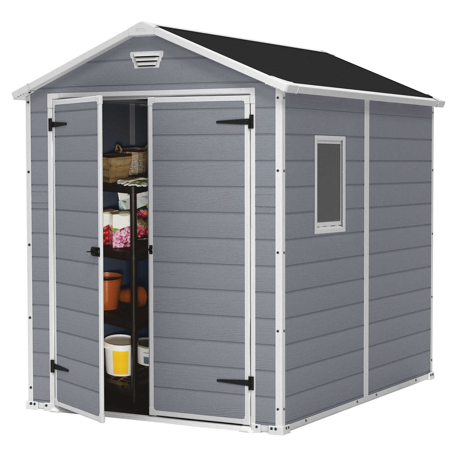 Steel Storage Sheds Outdoor 6 Ft X 8 Ft Storage Shed In Steel Reinforced Polypropylene