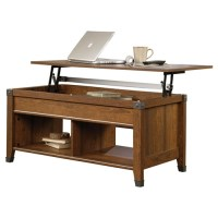 Lift-Top Coffee Table in Cherry Wood Finish ...