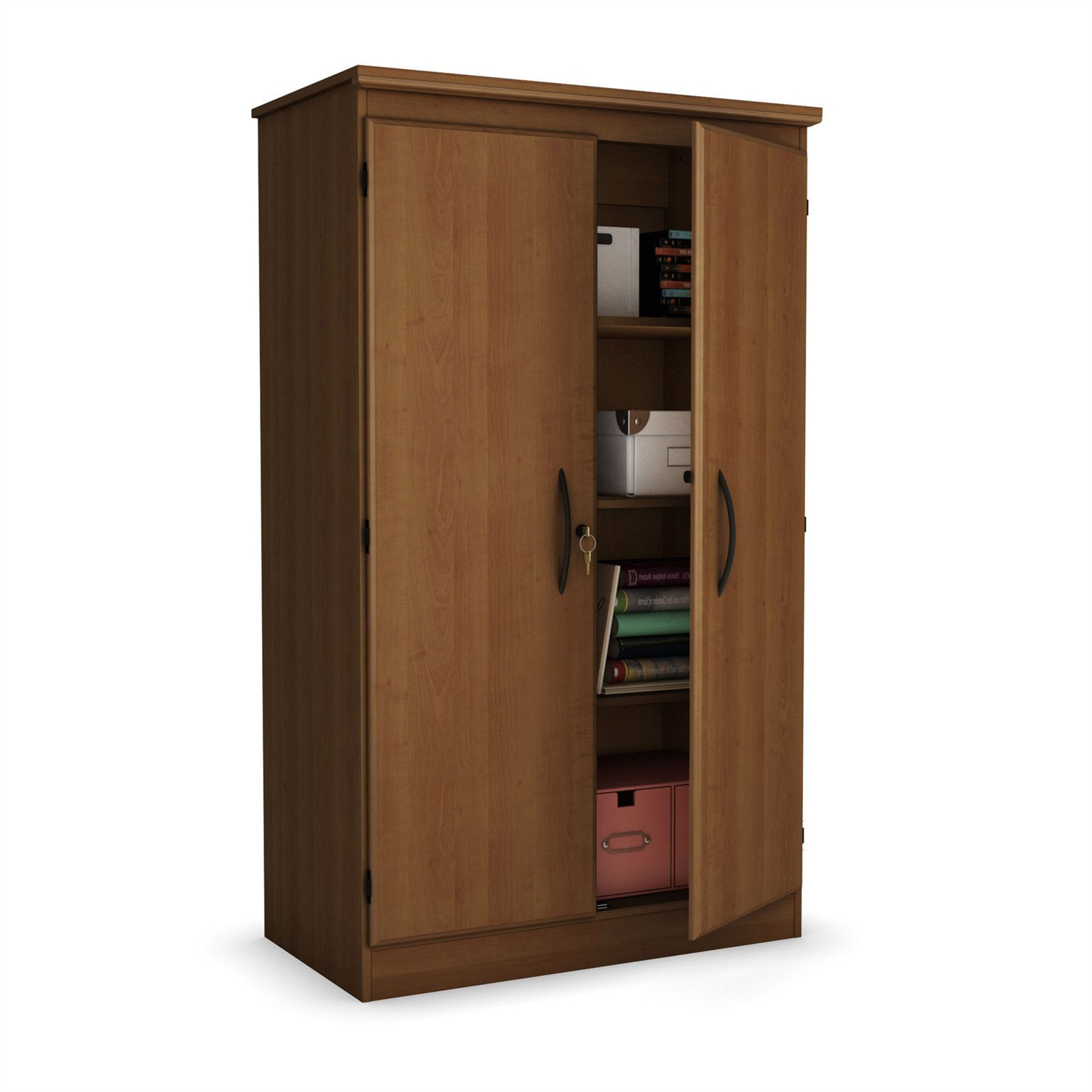 Wardrobe Storage Cabinet Cherry 2 Door Storage Cabinet Wardrobe Armoire For Bedroom