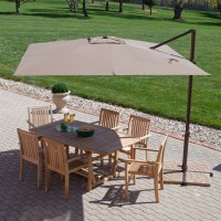 Modern 8.5-Ft Offset Cantilever Square Patio Umbrella with ...