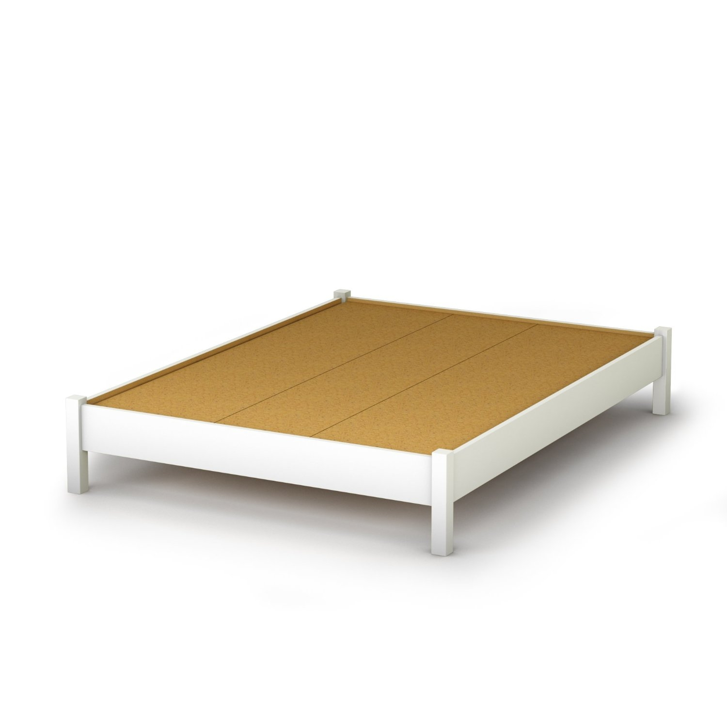 Full Size Platform Bed Full Size Simple Platform Bed In White Finish - Modern
