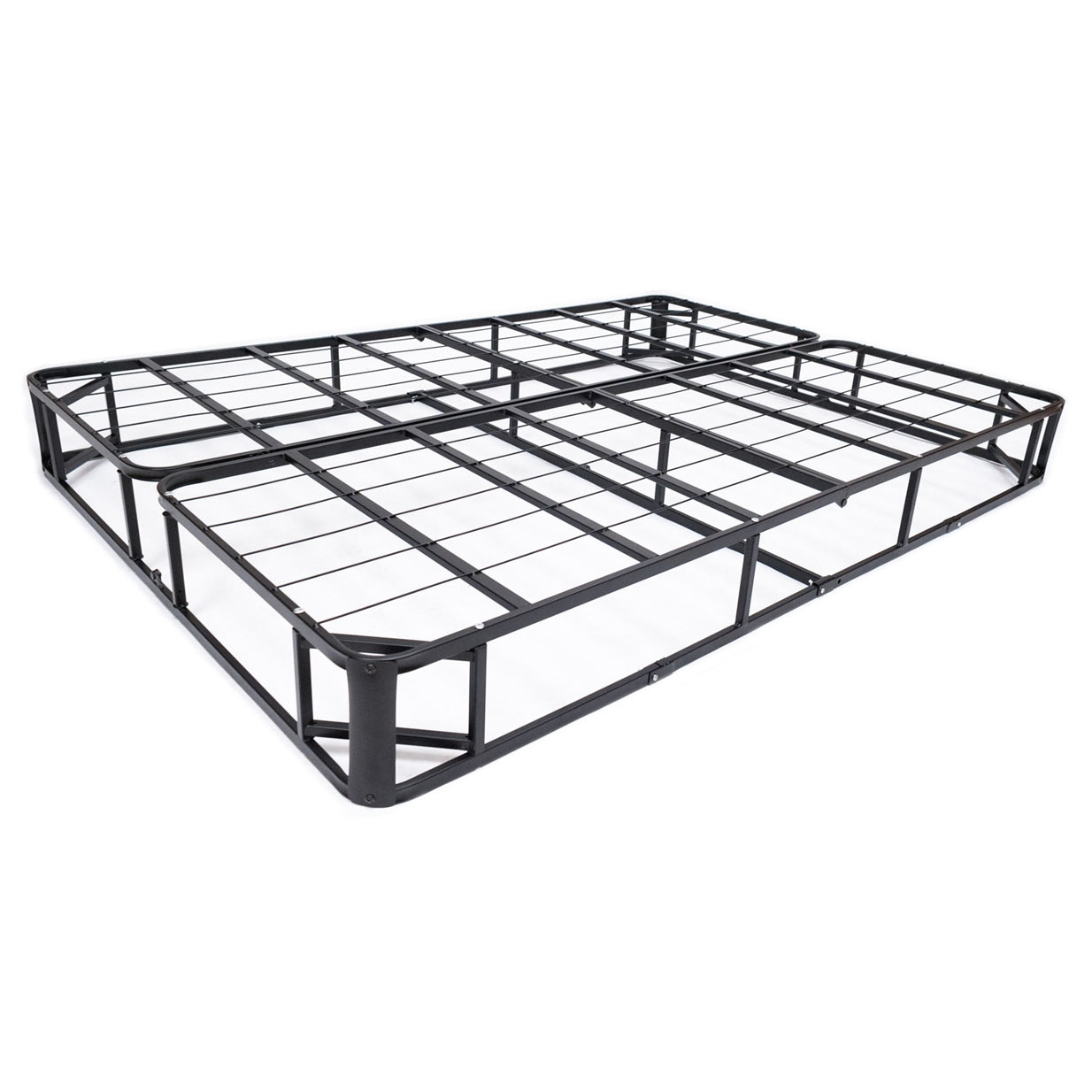 Box Spring Full Size Metal Boxspring Mattress Foundation With Jacquard Cover