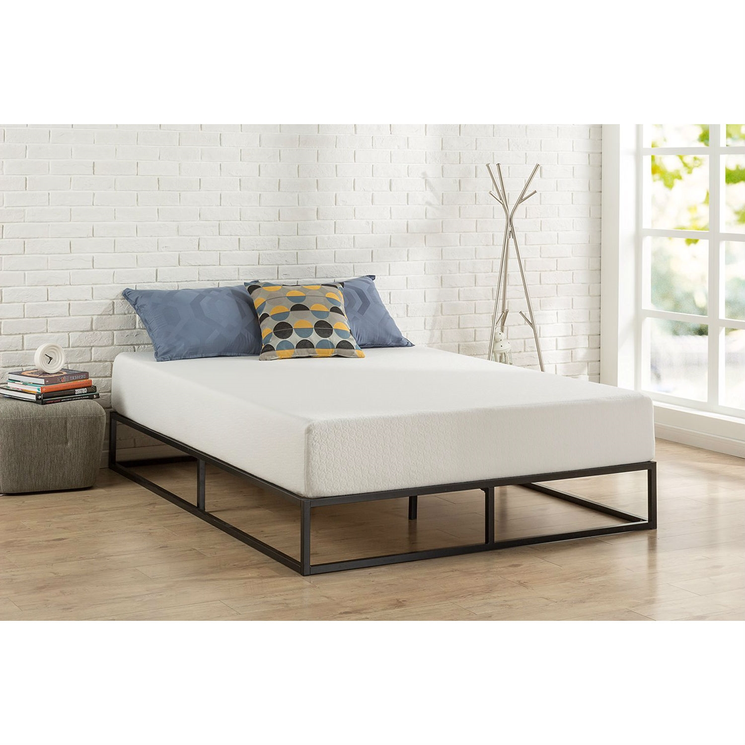 Low Bed Frames Canada Twin Size 10 Inch Low Profile Modern Metal Platform Bed