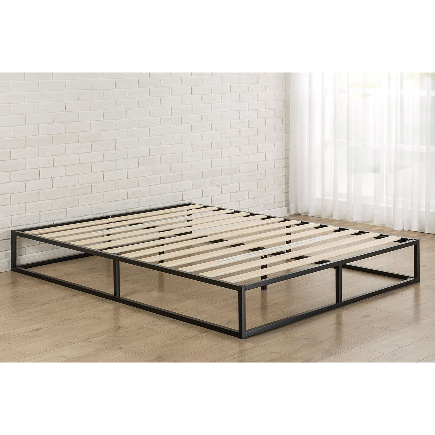 Twin Bed Frame Low Profile Twin Size 10 Inch Low Profile Modern Metal Platform Bed