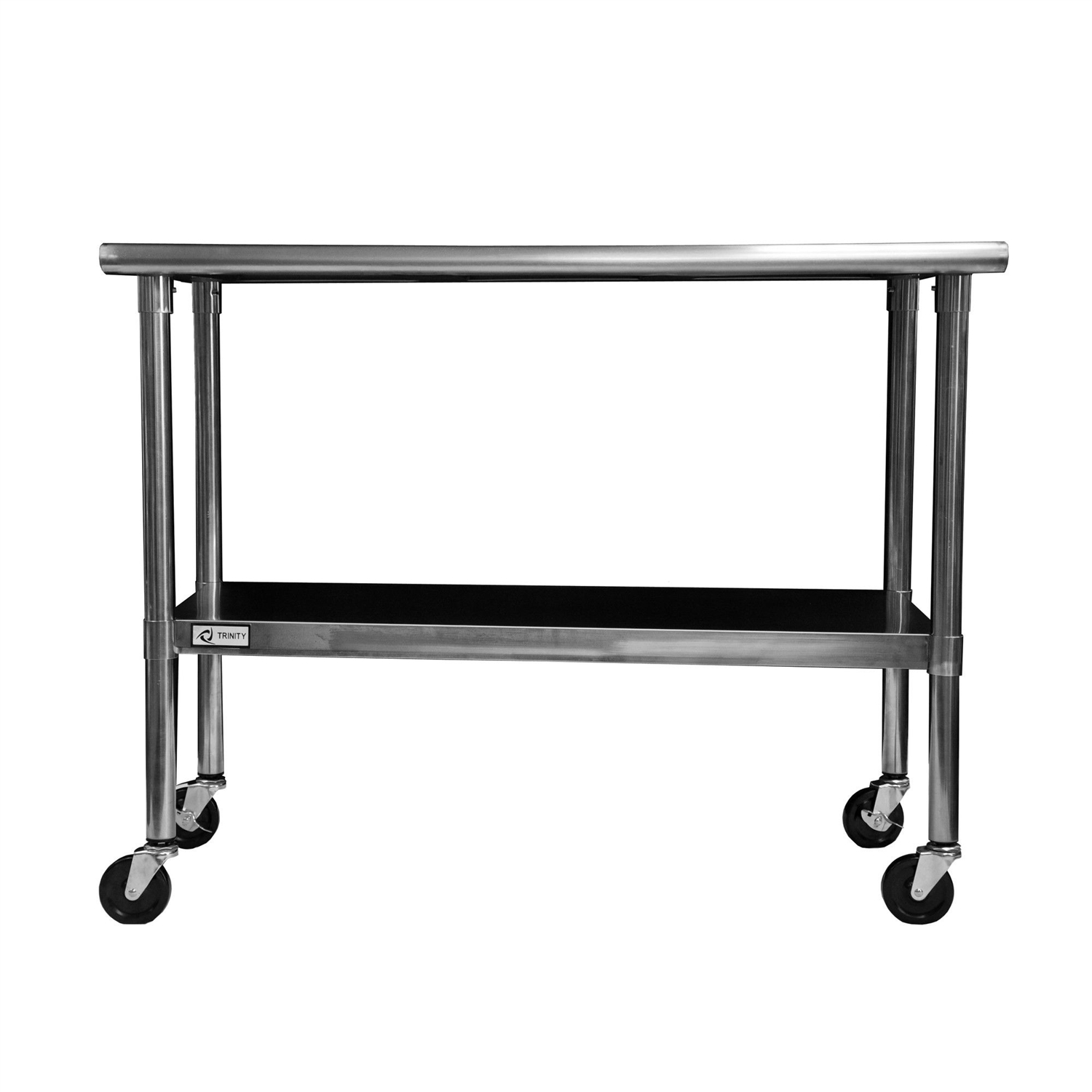 Kitchen Island With Locking Casters 2ft X 4ft Stainless Steel Top Kitchen Prep Table With