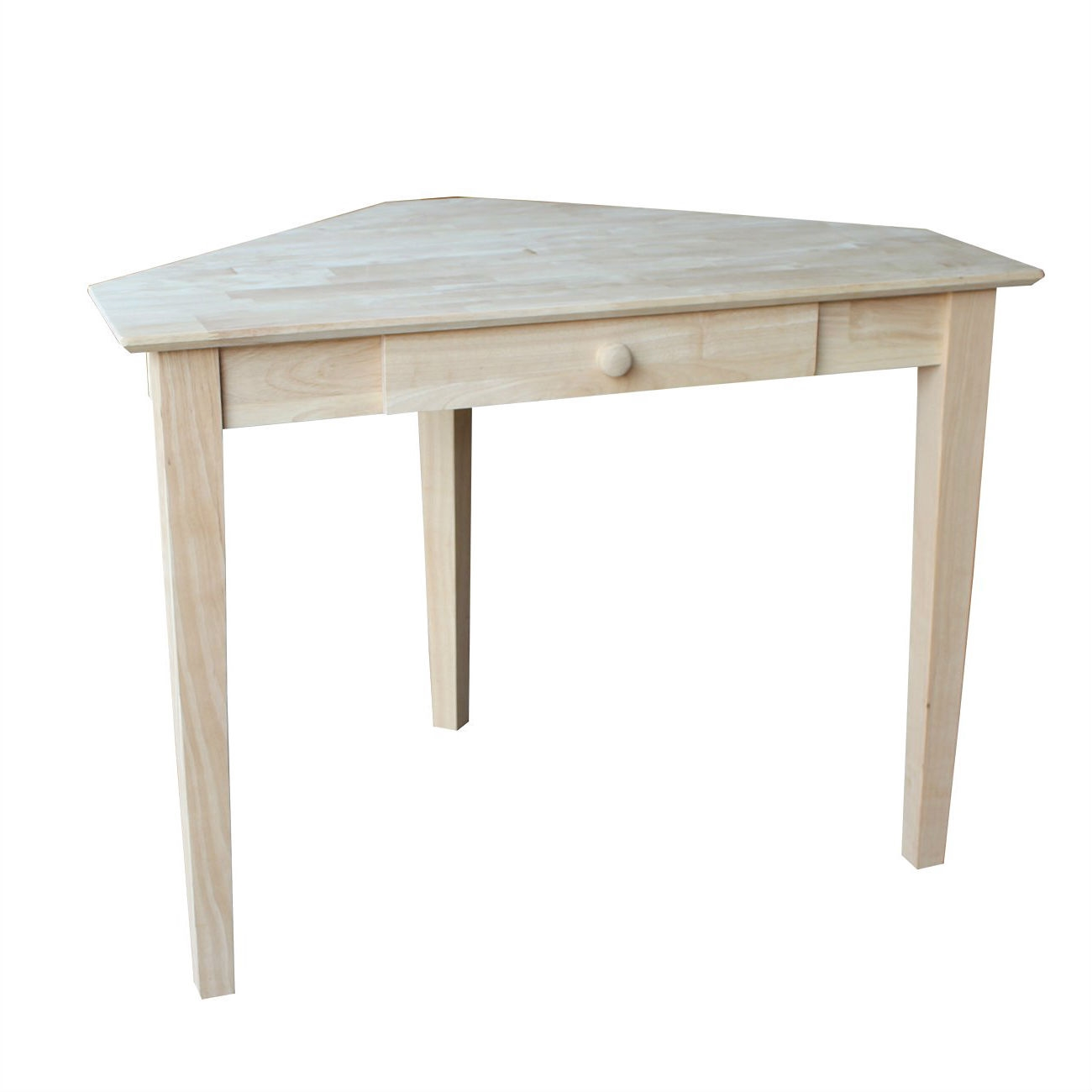 Table Unfinished Wood Unfinished Wood Corner Desk Laptop Computer Writing Table With Drawer