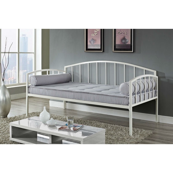 Daybed Frame Twin Size White Metal Day Bed Frame - 600 Lb Weight Limit