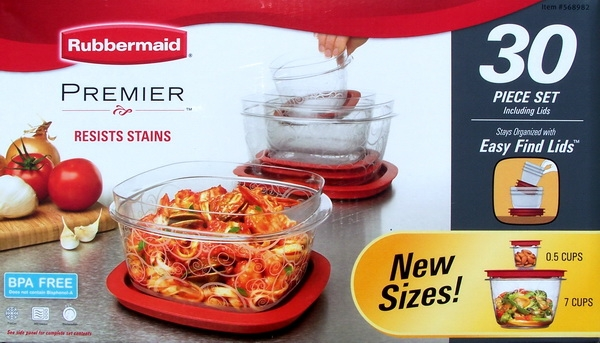 Rubbermaid Premier 30 Plastic Food Storage Containers