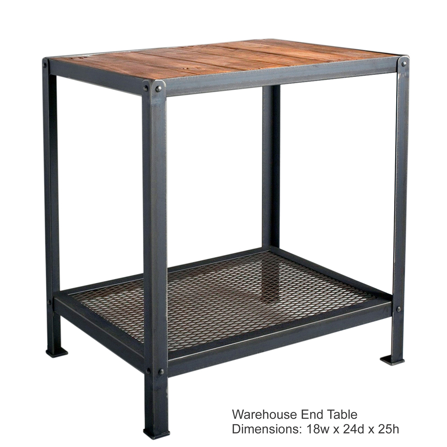 Warehouse Table Wrought Iron Warehouse End Table Charleston Forge