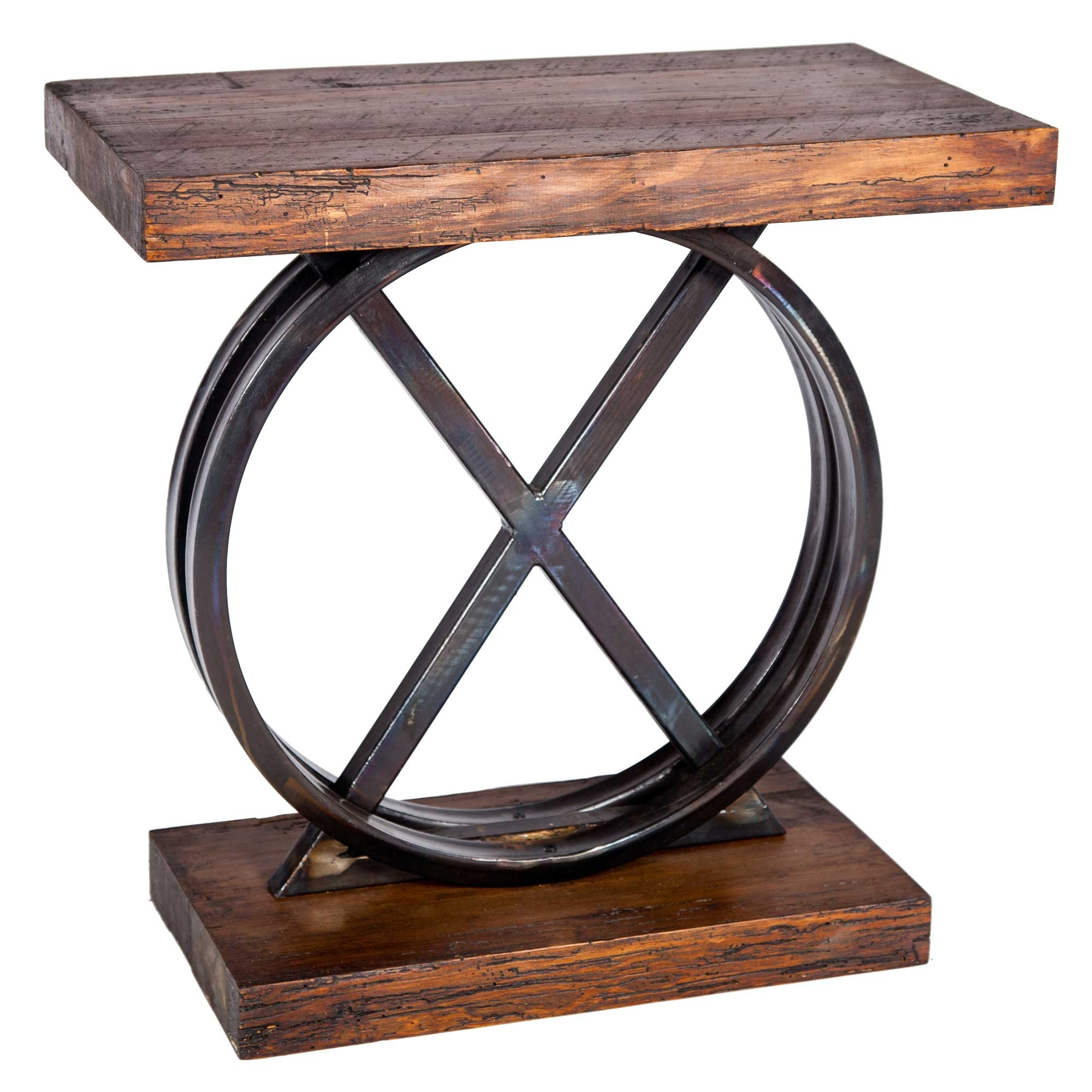 Wrought Iron And Wood End Tables Wood Table With Wrought Iron Base Shapeyourminds