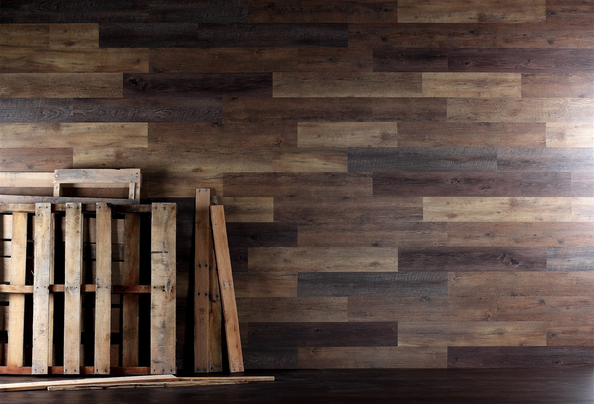 Hout Muur Reclaimed Pallet Wood Look Wood Wall Planking. Free Shipping!