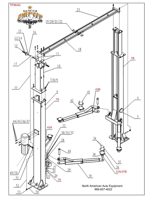 9000 lb eagle lift wiring diagram