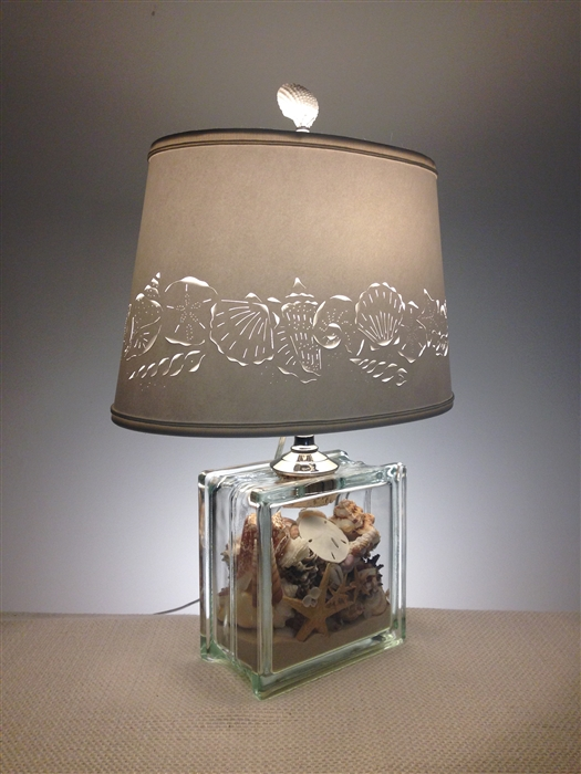 What Is The Height Of A Kitchen Cabinet Seashell Filled Glass Block Lamp