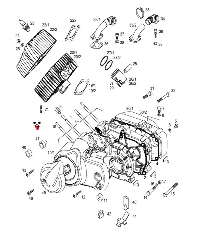 tomos OEM engine case dowel pin