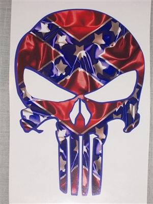 Racing Car Bedroom Wallpaper Rebel Flag Punisher Skull Decal