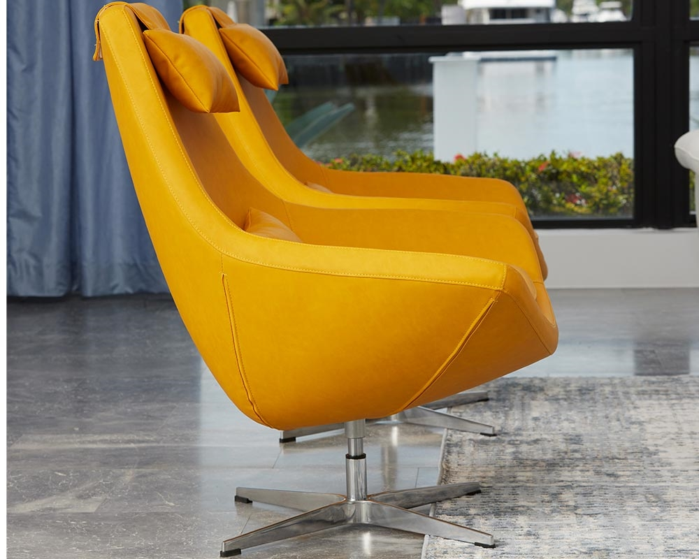 Modern Swivel Lounge Chairs Minoa Modern Lounge Chair In Yellow Mh2g