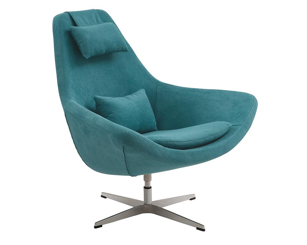 Modern Swivel Lounge Chairs Minoa Modern Lounge Chair In Aqua Green Mh2g