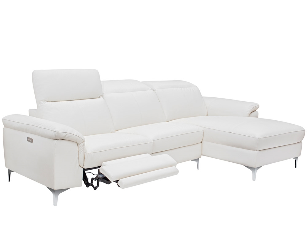 Sofas Masino Modern Sectional In White Leather Rfc Mh2g