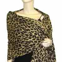 Leopard Pashmina Shawl