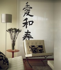 Zen Kanji Writing Symbols wall decals stickers