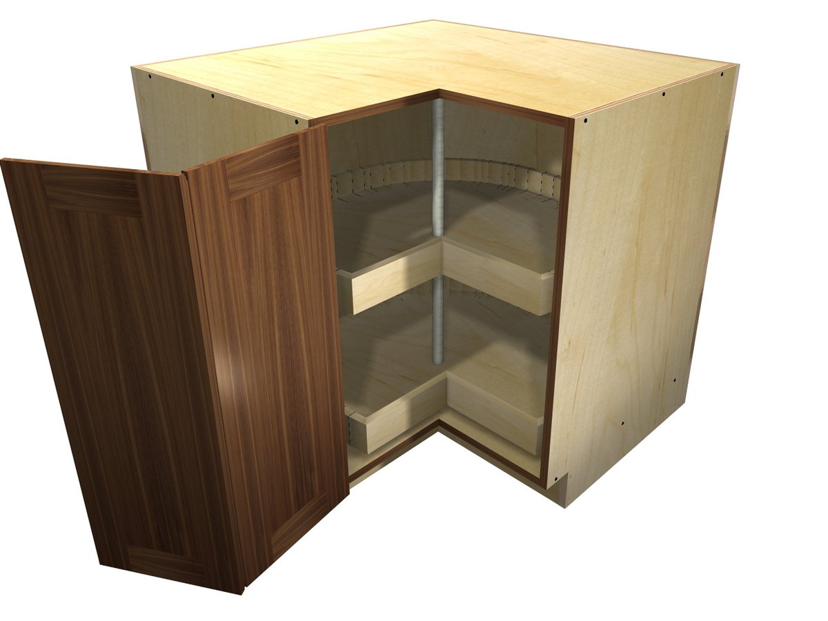 Kitchen Cabinets Lazy Susan Corner Cabinet 90 Degree Base Cabinet With Wood Lazy Susan