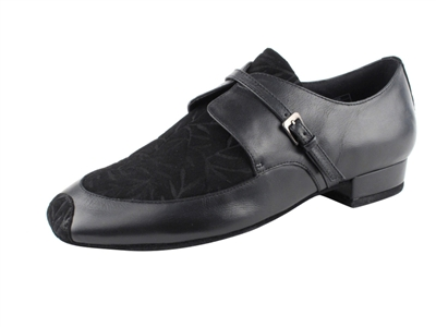 Cd9003a Is A Mens Slip On Black Suede And Leather Dance Shoe
