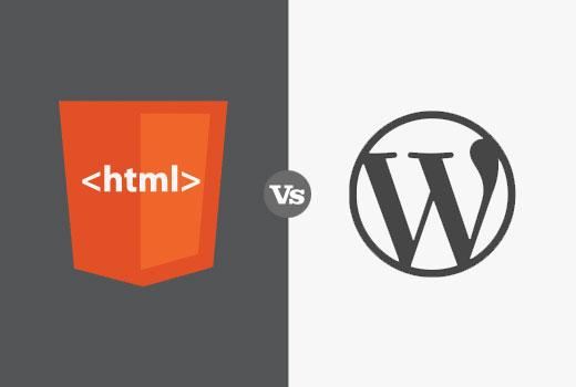 HTML vs WordPress for business websites
