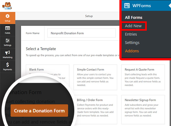 How to Create a Nonprofit Donation Form in WordPress - donation form templates