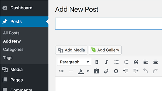 Insert gallery into WordPress posts and pages