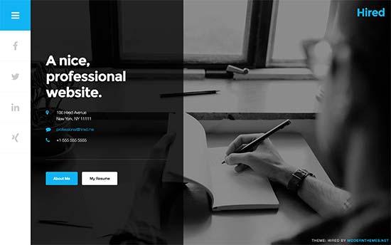 26 Best WordPress Resume Themes for Your Online CV (2017) - wordpress resume theme