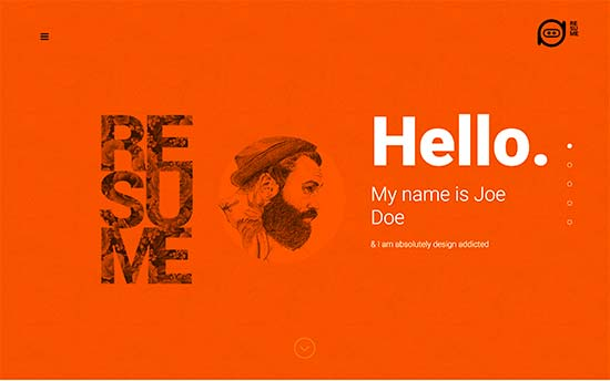 template portfolio cv wordpress