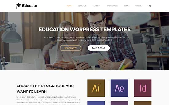 22 Best WordPress Themes for Universities (2017) - podcast website template