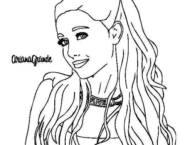 Disegno Di Ariana Grande Con Il Collare Da Colorare