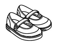 Disegno di Scarpe da ragazza da Colorare - Acolore.com
