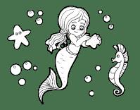 Disegno di Una bellissima sirena da Colorare - Acolore.com