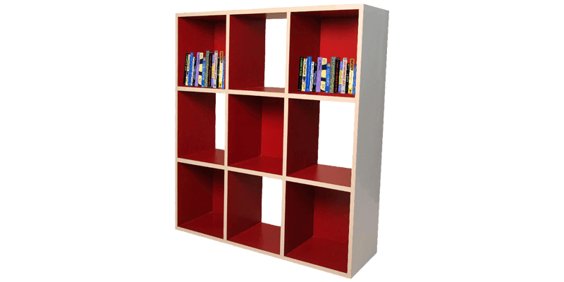 9 Cube Bookshelf With Compartments