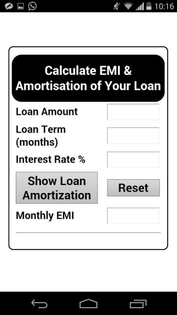 Bank DA-EMI Calculator | Download APK for Android - Aptoide